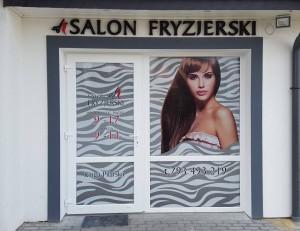 fryzjer styrodur 3d witryny reklama projekt grafika reklama